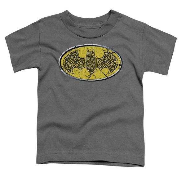 Batman Celtic Shield Short Sleeve Toddler Tee Charcoal T-Shirt