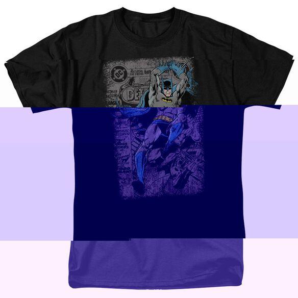 BATMAN DETECTIVE #487 DISTRESS - S/S ADULT 18/1 - BLACK T-Shirt