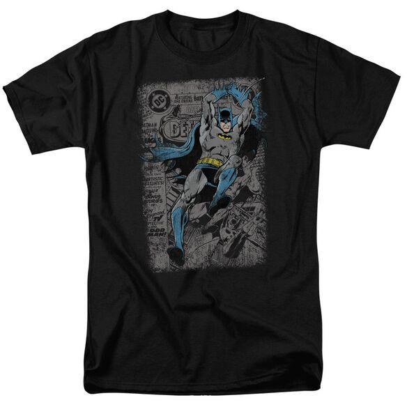 BATMAN DETECTIVE #487 DISTRESS-S/S ADULT 18/1 - BLACK T-Shirt