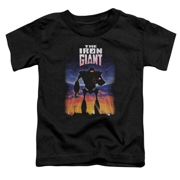 Iron Giant Poster Short Sleeve Toddler Tee Black Md T-Shirt