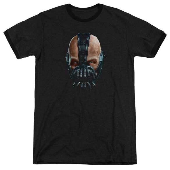 Dark Knight Rises Painted Bane Adult Heather Ringer