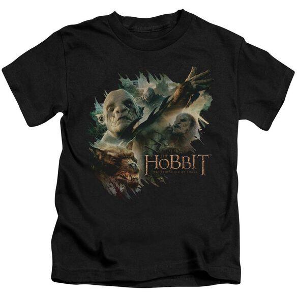 Hobbit Baddies Short Sleeve Juvenile Black T-Shirt