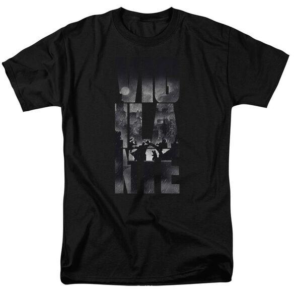 Batman V Superman Rainy Viglante Short Sleeve Adult Black T-Shirt
