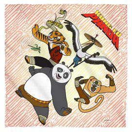 Kung Fu Panda Kung Fu Group Bandana White