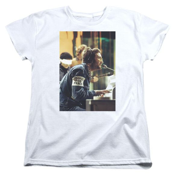 John Lennon Peace Short Sleeve Womens Tee T-Shirt