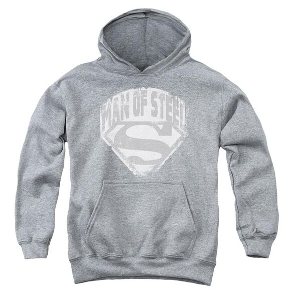 Superman Man Of Steel Shield Youth Pull Over Hoodie