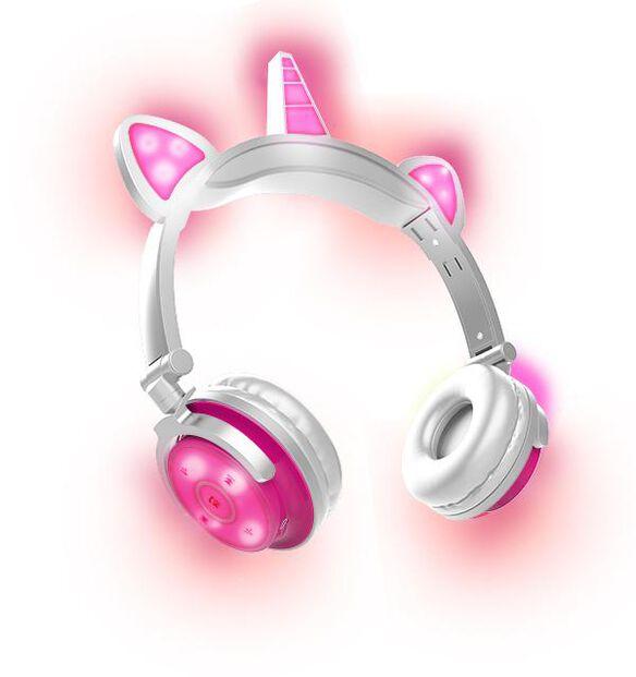 Unicorn LED Bluetooth Headphones [Pink]