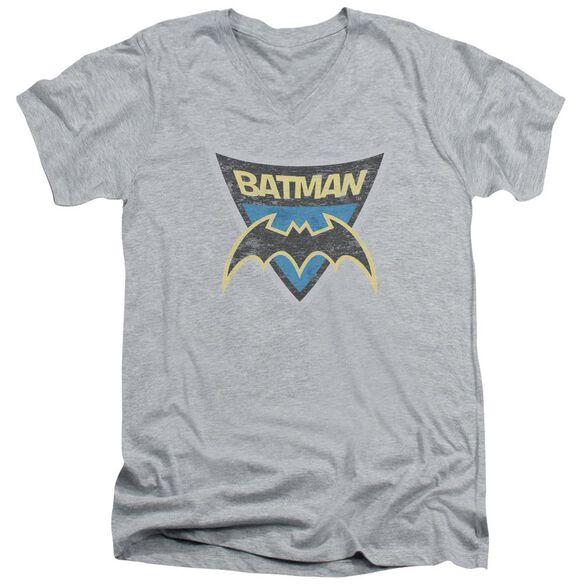 Batman Bb Batman Shield Short Sleeve Adult V Neck Athletic T-Shirt
