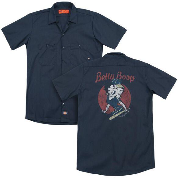 Betty Boop Team Boop(Back Print) Adult Work Shirt