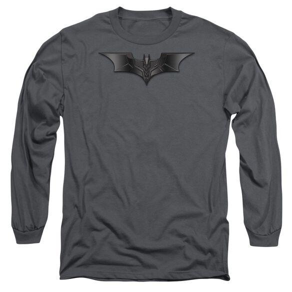 Dark Knight Carbon Fiber Shield Long Sleeve Adult T-Shirt