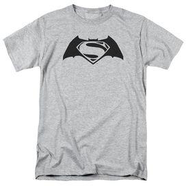 Batman V Superman Simple Logo Short Sleeve Adult Athletic Heather T-Shirt