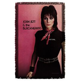 Joan Jett Crimson And Clover Woven Throw