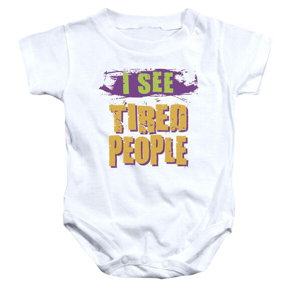 I See Tired People Infant Snapsuit White Md