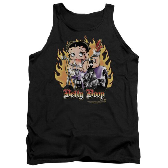 Betty Boop Biker Flames Boop Adult Tank