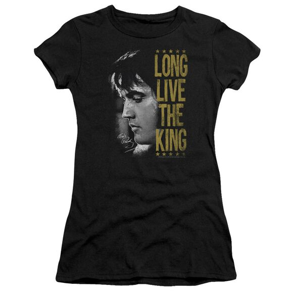 Elvis Long Live The King Short Sleeve Junior Sheer T-Shirt