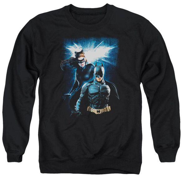 Dark Knight Rises Bat &Amp; Cat Adult Crewneck Sweatshirt