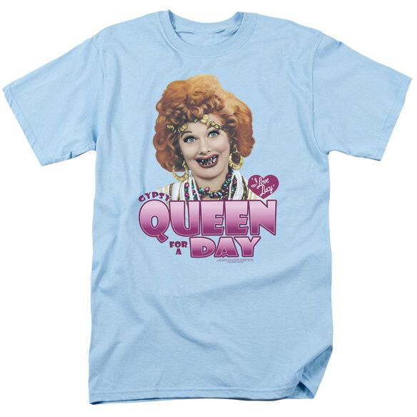 I Love Lucy Gypsy Queen Short Sleeve Adult Light Blue T-Shirt