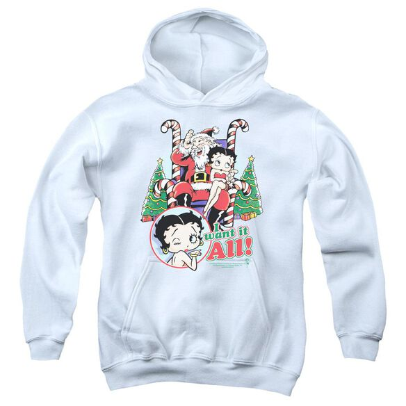 Betty Boop I Want It All Youth Pull Over Hoodie