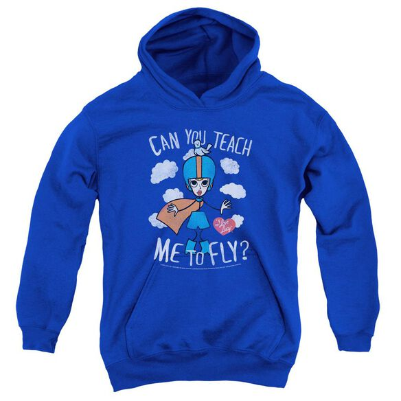 I Love Lucy Fly Youth Pull Over Hoodie Royal
