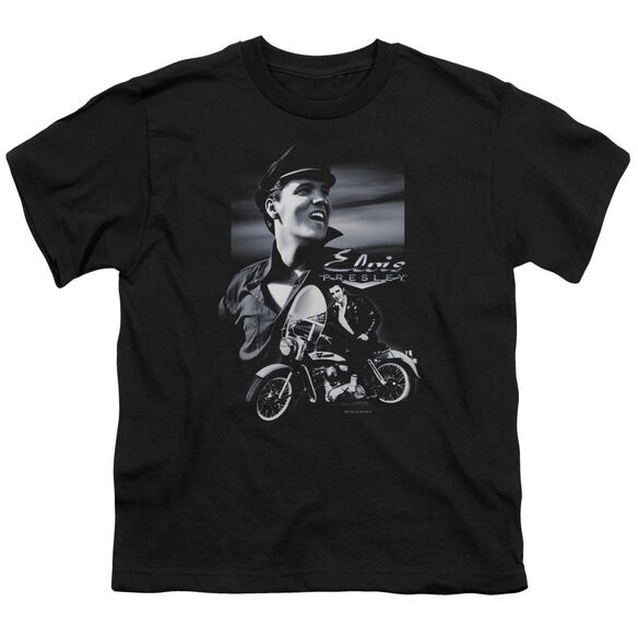 Elvis Motorcycle Short Sleeve Youth T-Shirt