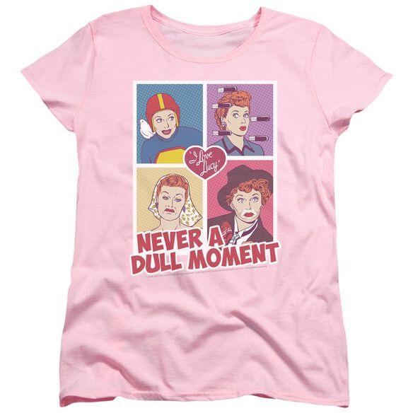 I Love Lucy Panels Short Sleeve Womens Tee T-Shirt