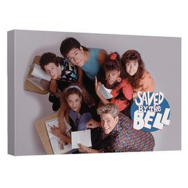 Saved By The Bell Group Shot Canvas Wall Art With Back Board
