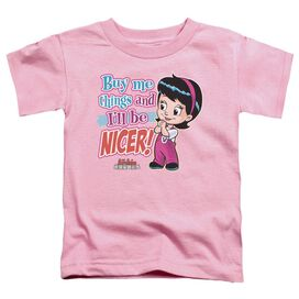 Archie Babies Nicer Short Sleeve Toddler Tee Pink Md T-Shirt