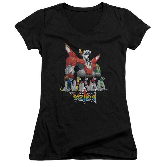 Voltron Lions Junior V Neck T-Shirt