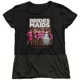 BRIDESMAIDS POSTER - S/S WOMENS TEE - BLACK - SM - BLACK T-Shirt