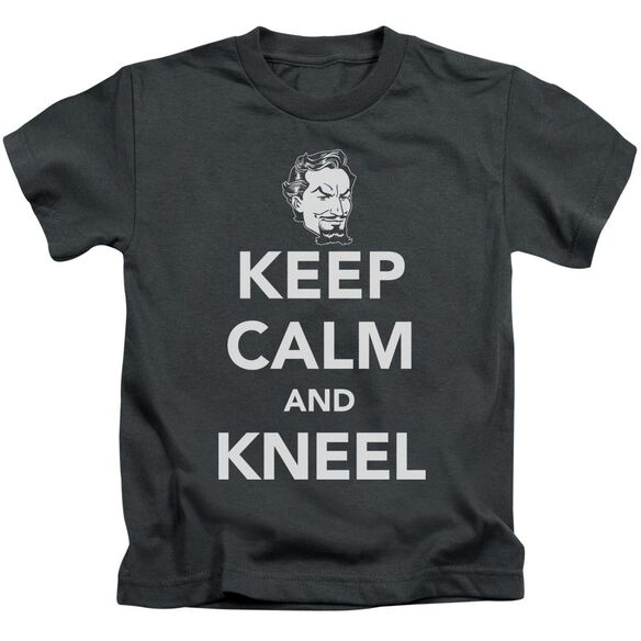 Dc Keep Calm And Kneel Short Sleeve Juvenile Charcoal Md T-Shirt