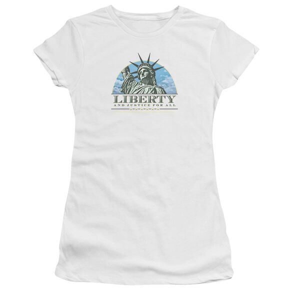 Liberty And Justice Short Sleeve Junior Sheer T-Shirt