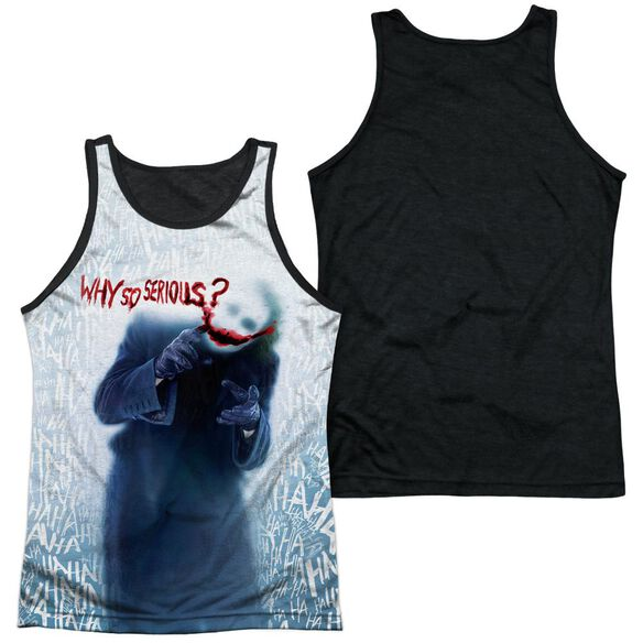 Dark Knight Why Adult Poly Tank Top Black Back