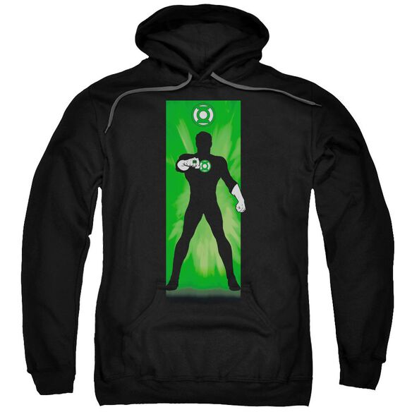 Dc Green Lantern Block Adult Pull Over Hoodie Black