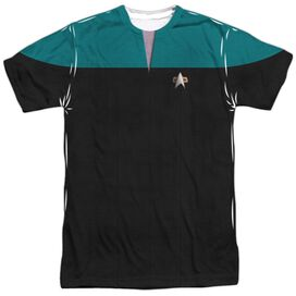 Star Trek Voyager Science Uniform Short Sleeve Adult Poly Crew T-Shirt