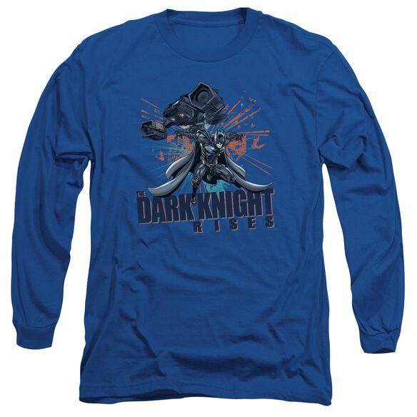Dark Knight Rises Batwing Long Sleeve Adult Royal T-Shirt