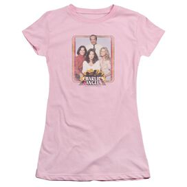 Charlies Angels Iron On Angels Short Sleeve Junior Sheer T-Shirt