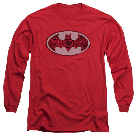 Batman Rosey Signal Long Sleeve Adult T-Shirt