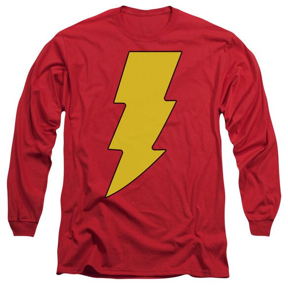 Dc Shazam Logo Long Sleeve Adult T-Shirt