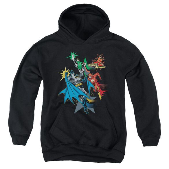 Jla Action Stars Youth Pull Over Hoodie