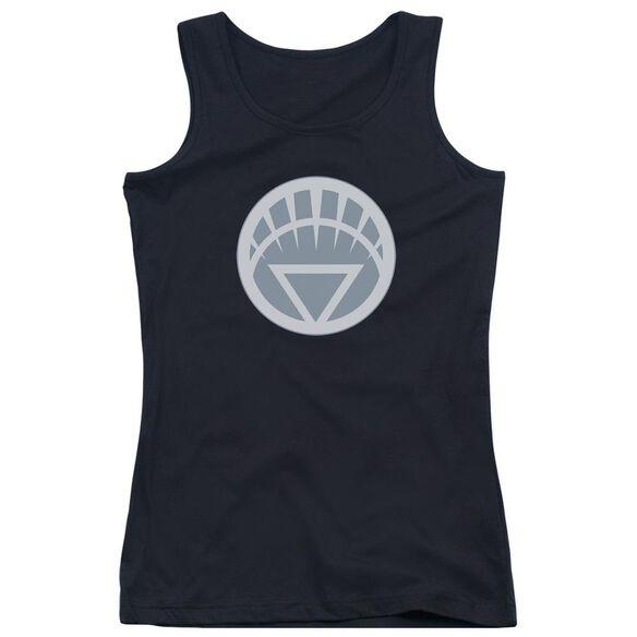 Green Lantern White Symbol - Juniors Tank Top