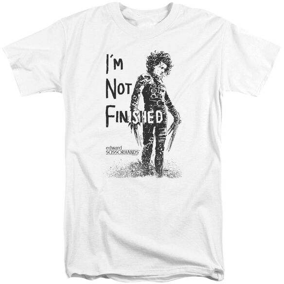 Edward Scissorhands Not Finished Short Sleeve Adult Tall T-Shirt