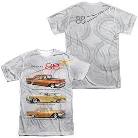 Oldsmobile Rocket Line (Front Back Print) Short Sleeve Adult Poly Crew T-Shirt