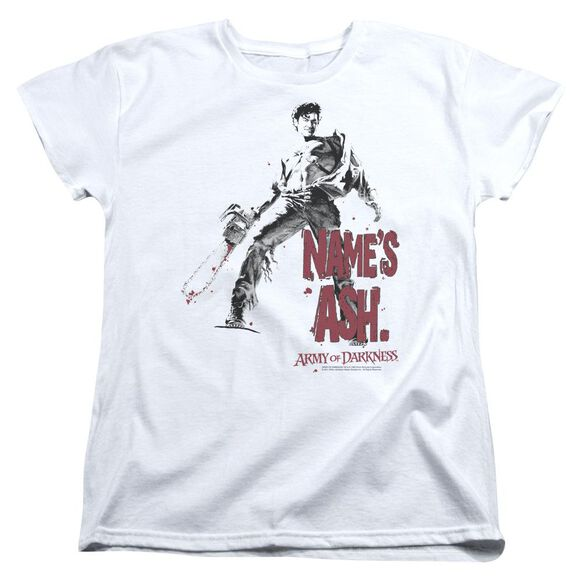 Army Of Darkness Names Ash Short Sleeve Womens Tee T-Shirt