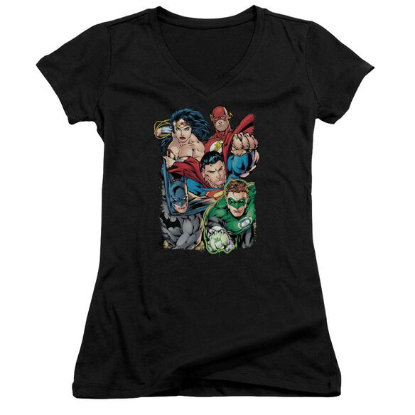 Jla Break Free Junior V Neck T-Shirt