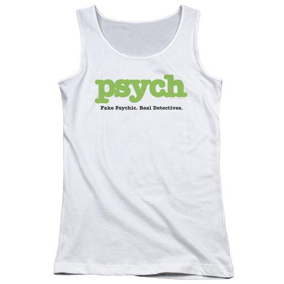 Psych Title Juniors Tank Top