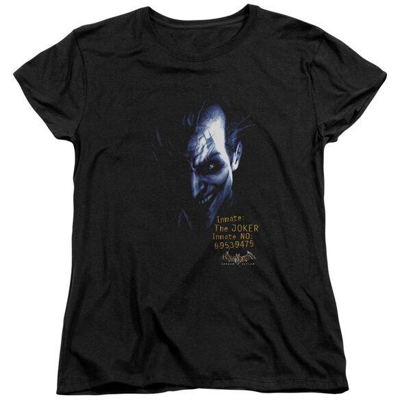 BATMAN AA ARKHAM JOKER - S/S WOMENS TEE - BLACK T-Shirt