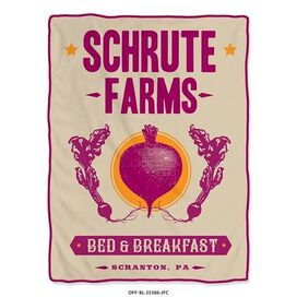 The Office Schrute Farms B&B Throw Blanket