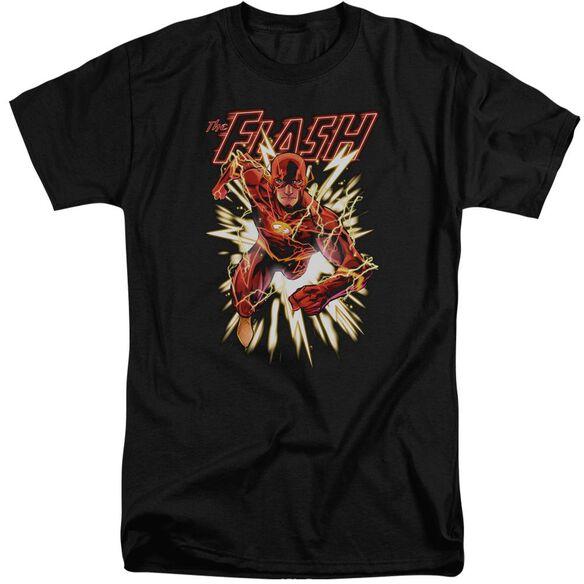 Jla Flash Glow Short Sleeve Adult Tall T-Shirt