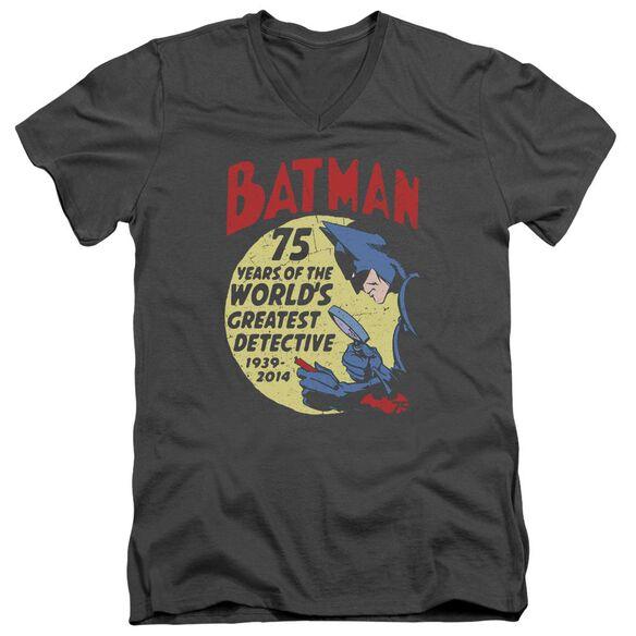 Batman Detective 75 Short Sleeve Adult V Neck T-Shirt