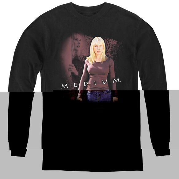 Medium Medium - Youth Long Sleeve Tee - Black